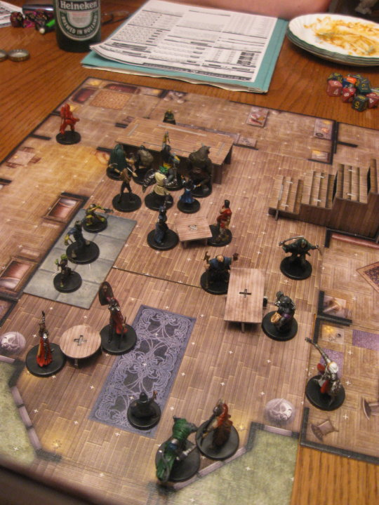 Using harrowing halls to create a tavern setting.