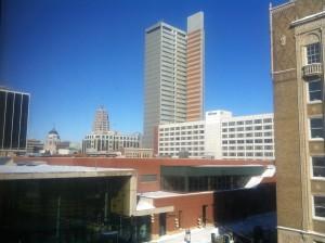 Ft Wayne skyline (convention center below)