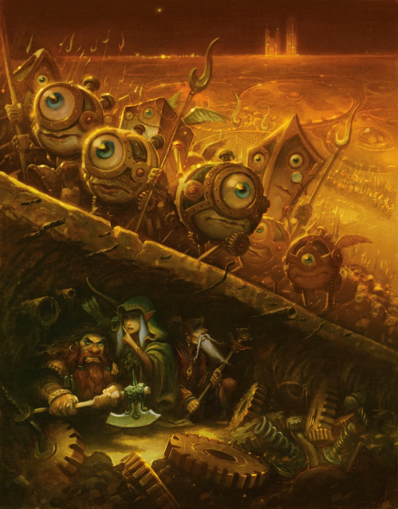 A Modron army on Mechanus, the plane of law!