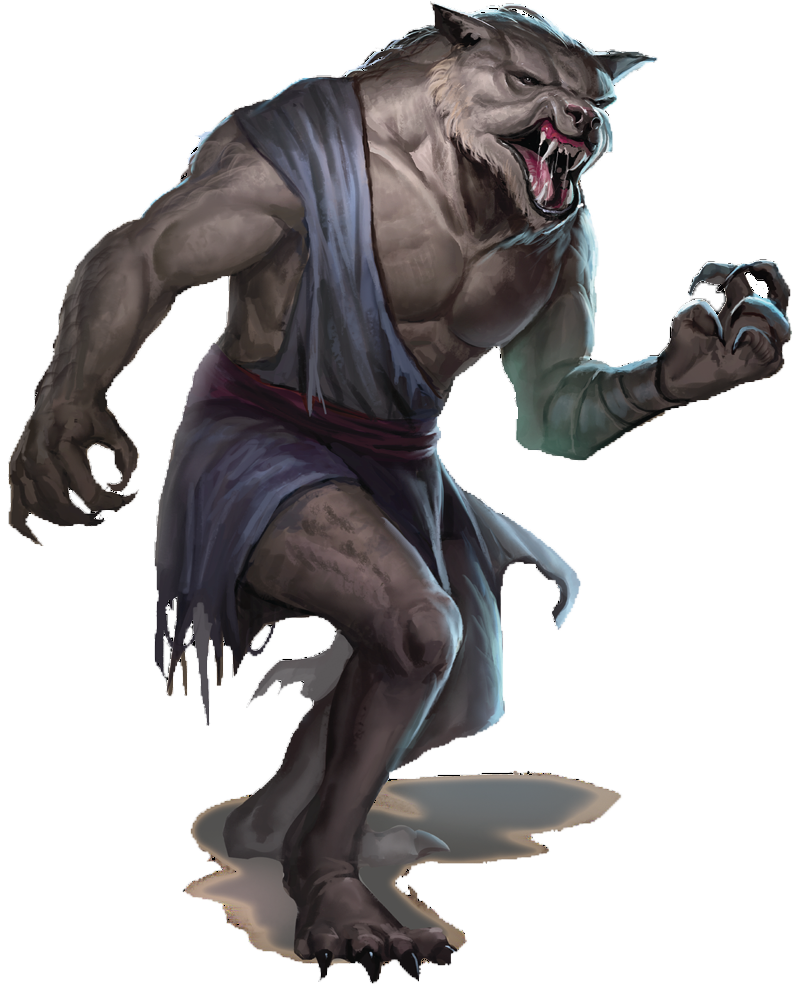 Lycanthropes in D&D 5e don't mess around!