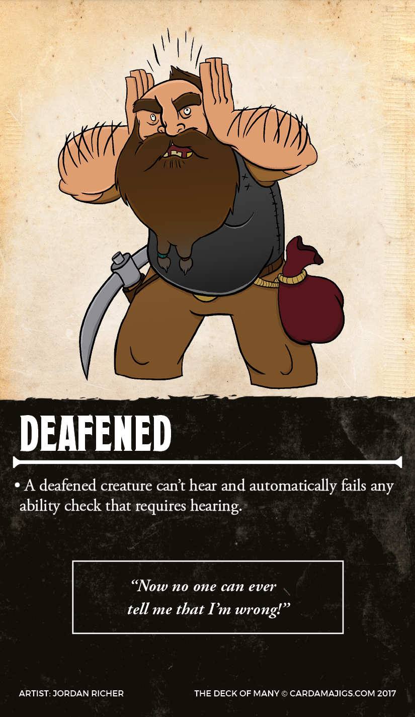The Deck of Many, 5e Reference Cards – The Dread Gazebo